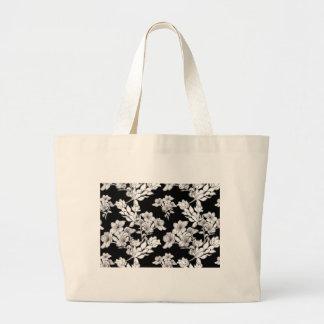 night flowers large tote bag