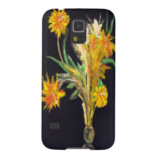 Night Flowers on Black Galaxy S5 Covers