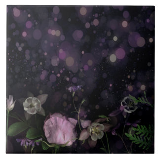 Night Garden Ceramic Tile