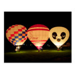 Night Glow Balloon Post Cards