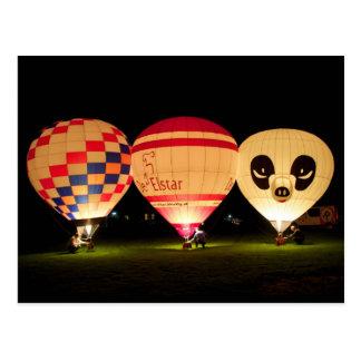 Night Glow Balloon Postcard