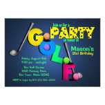 Night Glow Golf Party Personalized Invite
