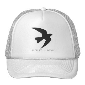 Night Hawk Bird Silhouette Hat