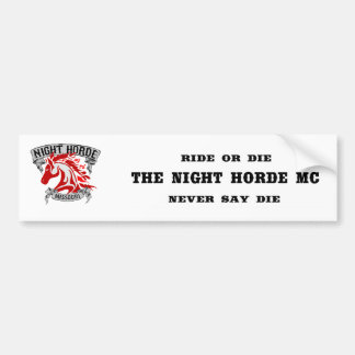 Night Horde Missouri Bumper Sticker