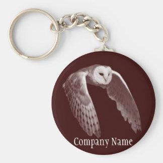 Night hunter owl basic round button key ring