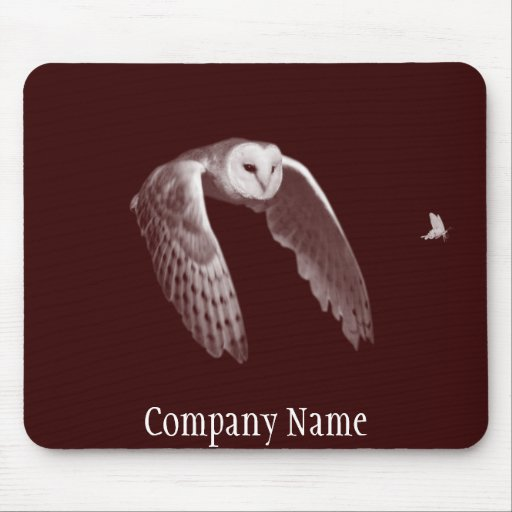 Night hunter owl mouse pad