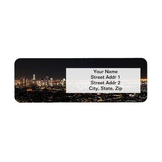 Night in Los Angeles Return Address Label