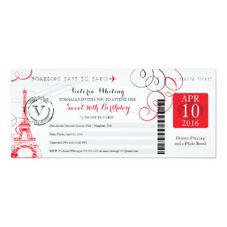 Night in Paris | Sweet 16 Birthday Card