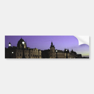 Night in Paris Watercolor Bumper Sticker
