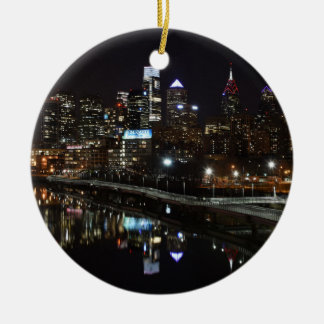Night in Philly Christmas Ornament