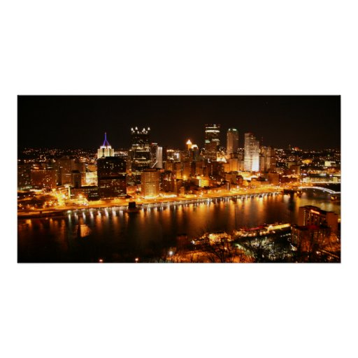 Night in Pittsburgh Poster