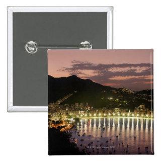 Night in Rio de Janeiro, Brazil 15 Cm Square Badge