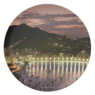 Night in Rio de Janeiro, Brazil Plate