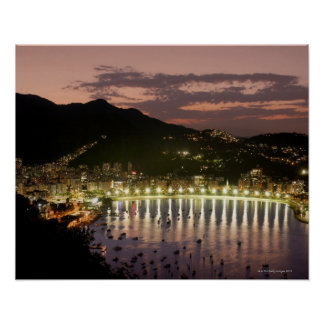 Night in Rio de Janeiro, Brazil Poster