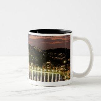 Night in Rio de Janeiro, Brazil Two-Tone Coffee Mug