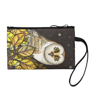 Night is full of wonders - barn owl coin wallet
