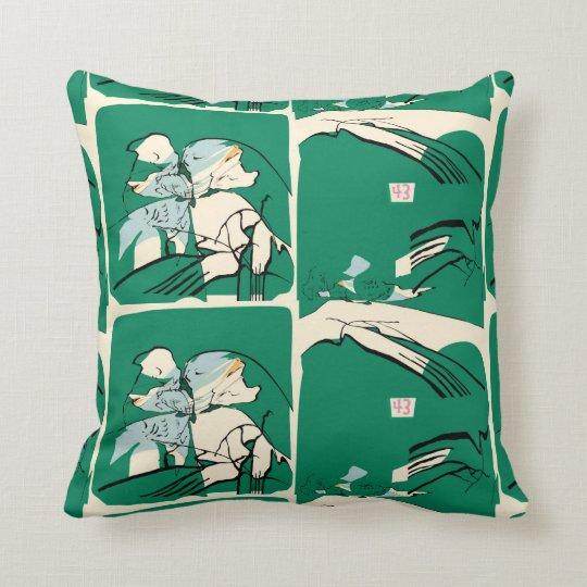 Night Jar 43 Throw Cushion (Sea Green