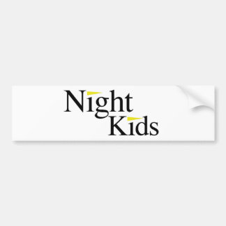 Night Kids White Bumper Sticker