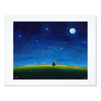 Night landscape art The Stars Are Calling, Colin 11 Cm X 14 Cm Invitation Card