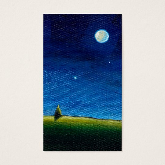 Night landscape art The Stars Are Calling, Colin Business Card