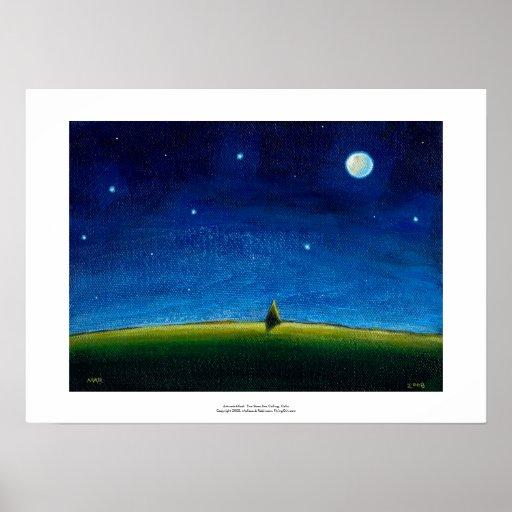 Night landscape art The Stars Are Calling, Colin