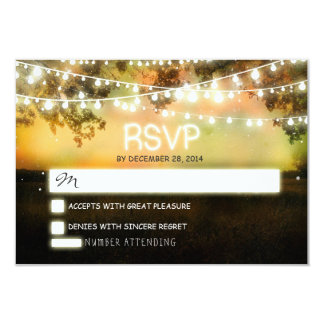 night lanterns romantic colorful wedding rsvp 9 cm x 13 cm invitation card