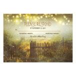 night lanterns romantic wedding RSVP card Custom Invitation