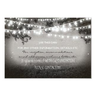 night lanterns wedding card for any information 9 cm x 13 cm invitation card