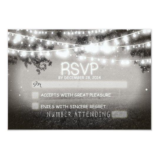 night lanterns wedding rsvp card