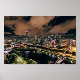 Night Life Skyline Poster