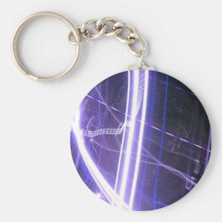 Night Light Series Basic Round Button Key Ring