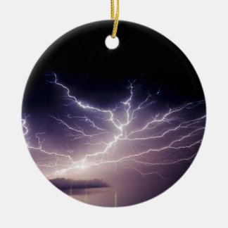 Night Lightning Christmas Ornament