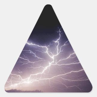 Night Lightning Triangle Sticker