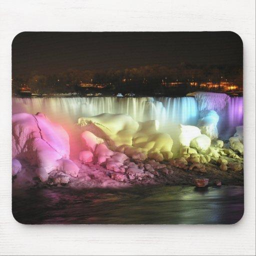 Night Lights: American Falls Mousepad