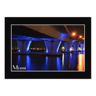 Night lights in Miami - Invitation