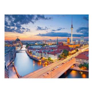 Night Lights of Berlin Germany Postcard