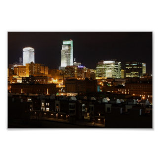 Night Lights of Omaha Poster