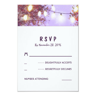 Night Lights Outdoor Wedding RSVP Cards 9 Cm X 13 Cm Invitation Card
