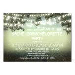 night lights rustic Bachelor/Bachelorette party 13 Cm X 18 Cm Invitation Card