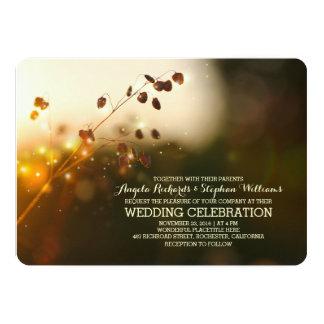 night lights rustic wedding invitation