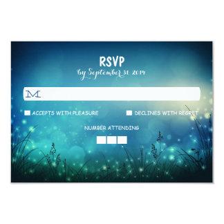 Night Lights Rustic Wedding RSVP Cards