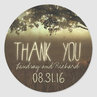night lights thank you wedding stickers