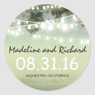 night lights wedding stickers