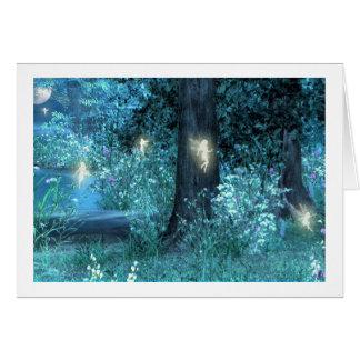 Night Magic fairy flight Greeting Card