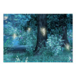 Night Magic fairy flight Poster