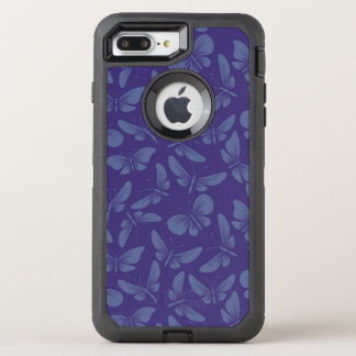 night moth butterflies background OtterBox defender iPhone 8 plus/7 plus case