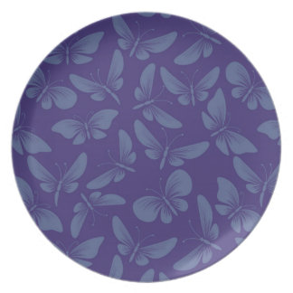 night moth butterflies background party plate