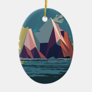Night Mountains No. 1.jpg Christmas Ornament