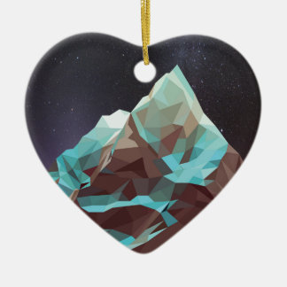 Night Mountains No. 2.jpg Ceramic Heart Decoration