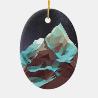 Night Mountains No. 2.jpg Ceramic Oval Decoration